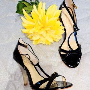 💋 NICOLE MILLER High Heels Sandals Black Sz 7